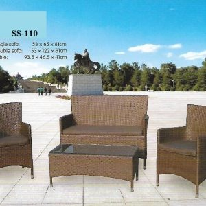 Outdoor Patio Wicker Sofa SS-110