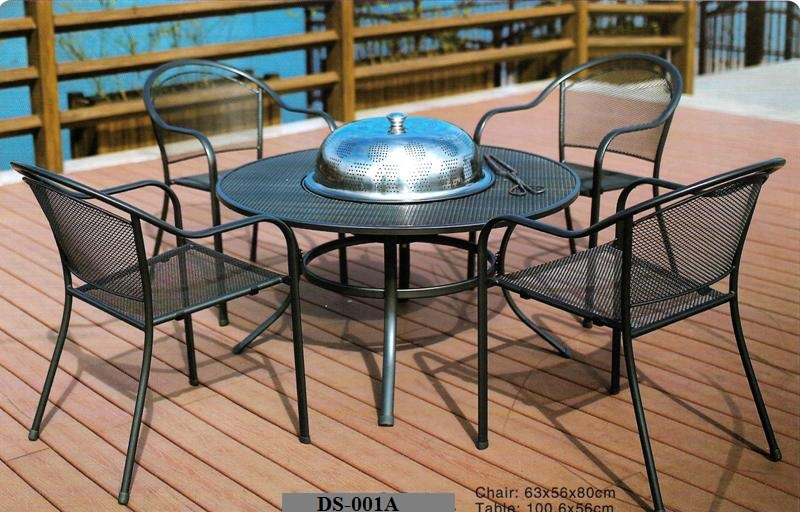 Outdoor Barbecue Table And Chairs DS-001A