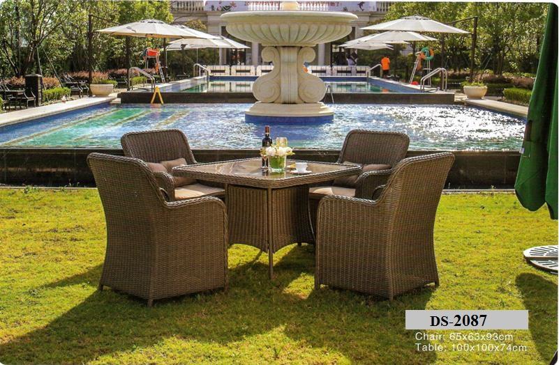 Outdoor Garden Wicker Dining Table DS-2087