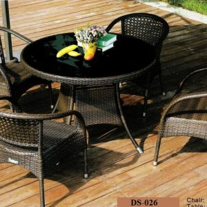 Wicker Outdoor Dining Sets DS-026