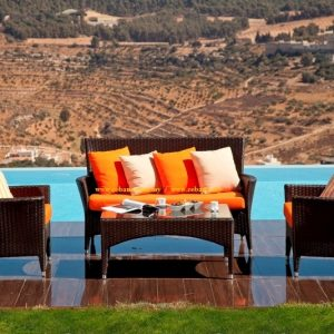 Outdoor Wicker Sofa SS-104