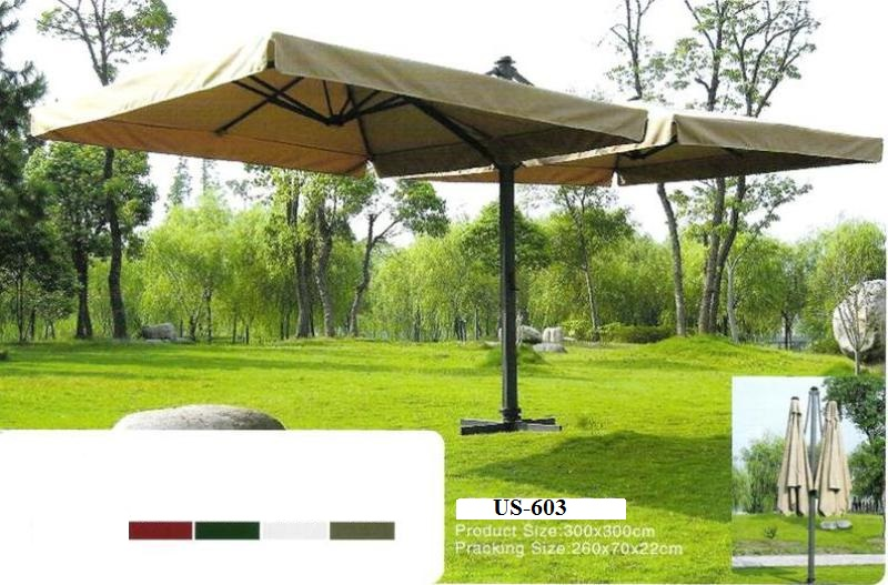 Double Sided Cantilever Garden Umbrella