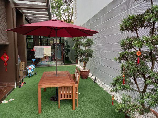 centre pole umbrella US-1003C-ZEBANO