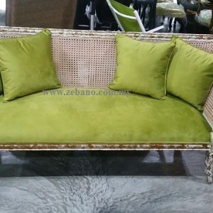 Antique Golden White Wash Sofa Bed CF-1827