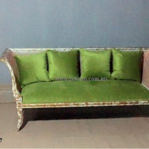 Antique Golden White Wash Sofa Bed CF 1827 (1)