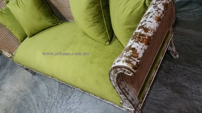 Antique Golden White Wash Sofa Bed CF-1827 (2)