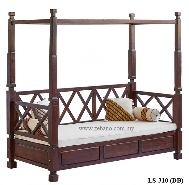 Teak Poster Day Bed LS-310(DB) (2)