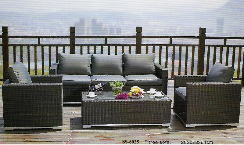 Outdoor Wicker Rattan Sofa Set SS-6025