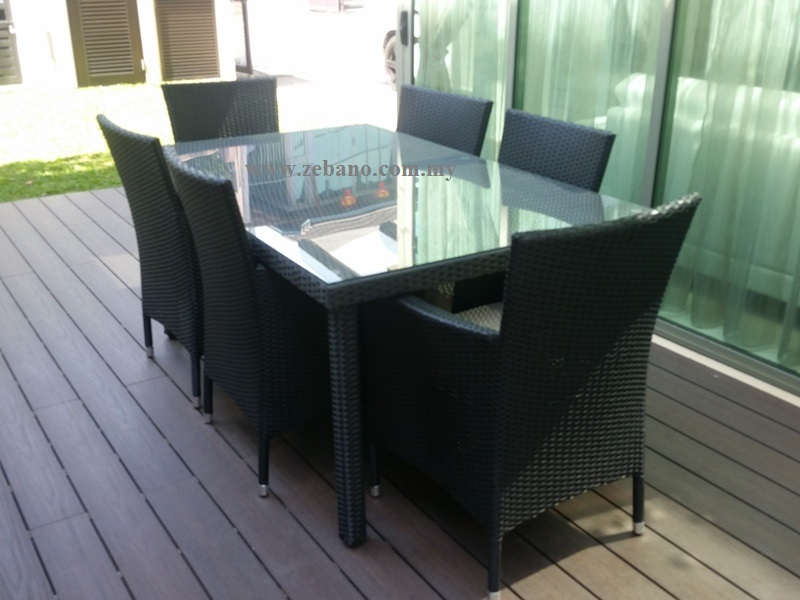 Patio wicker outdoor dining set DS-0282