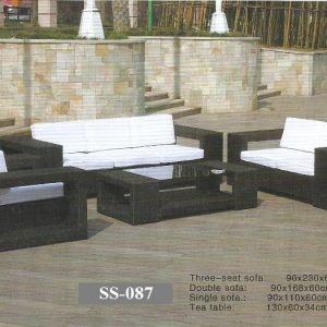 Outdoor Rattan 3 Seater Sofa Set SS-087