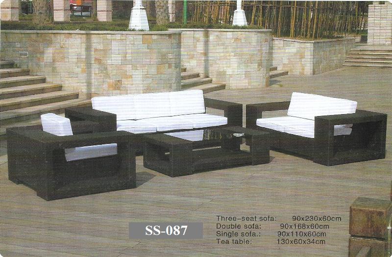Outdoor Rattan 3 Seater Sofa Set SS-087