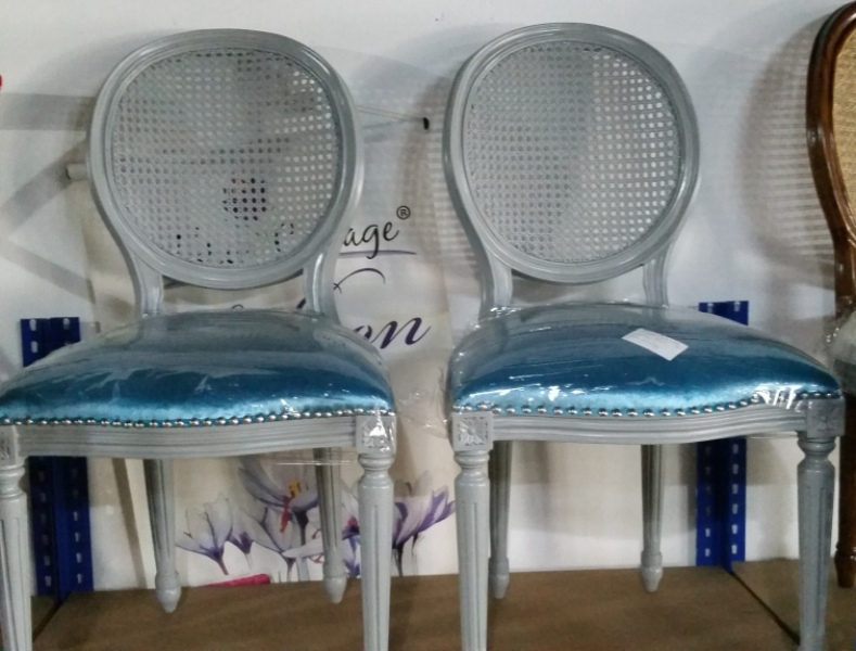 Louis Rottan Back Chair
