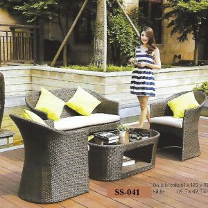 Pool Deck Rattan Sofa Set SS-041