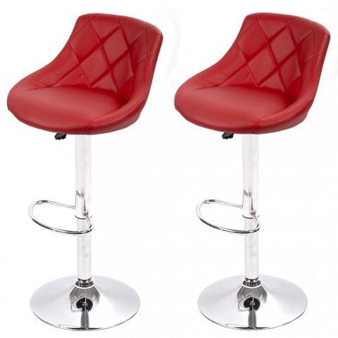 Swivel Bar Chair PU Red (1)