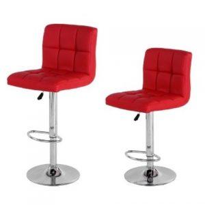 Swivel Bar Chair PU Red