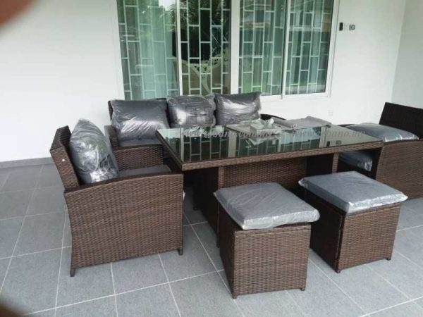 Outdoor Wicker Lounge Dining Sofa SS-18018