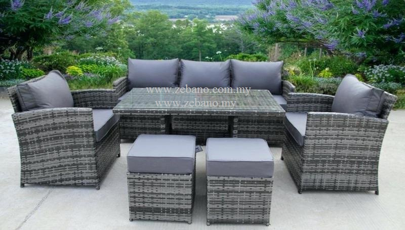 Outdoor Wicker Lounge Dining Sofa Ss 18108 Zebano