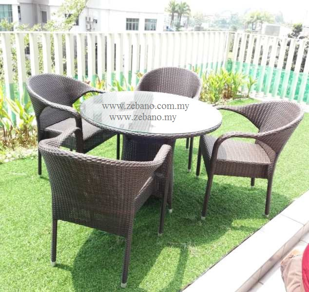 Serene outdoor wicker dining set DS-0276HC