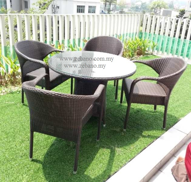 Serene outdoor wicker dining set DS-0276HC (2)