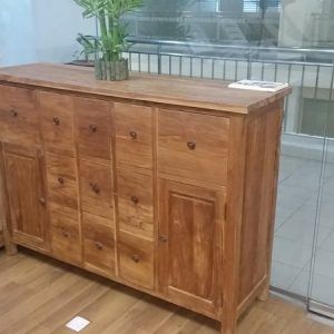 Solid Teak Wood Cabinet Drawers (2)