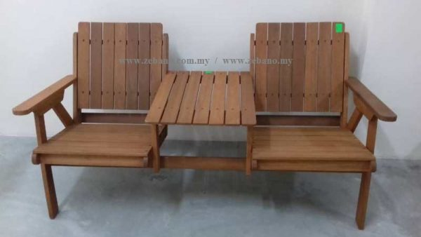 Jack & Jill Double Bench Chair, wooden benches, double seats