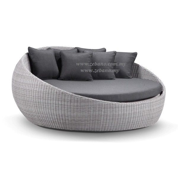 Round Outdoor Wicker Day Bed LS-099C (2)