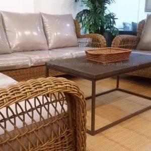 Classic Wicker Rattan Sofa SS 989 #Zebano (2)