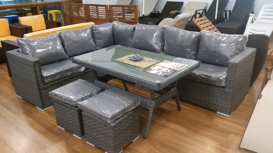 Outdoor Sectional Wicker Lounge Dining Sofa SS 18018A #Zebano
