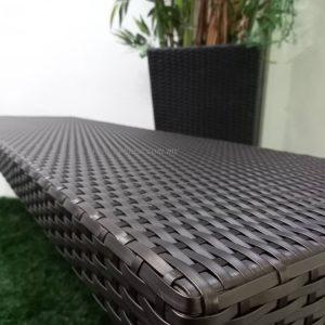 Outdoor Wicker Bench Zebano (1)