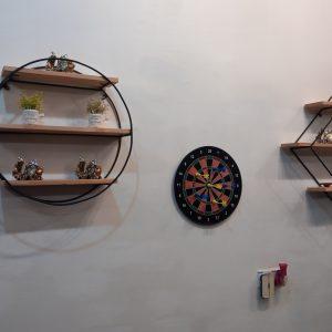 Wall Deco Shelf Round Zebano