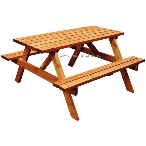 Outdoor Park Bench Teak Wood Zebano